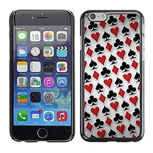 EJOY---Cubierta de la caja de protección la piel dura para el ** Apple Iphone 6 Plus 5.5 ** --Patrón Card Deck