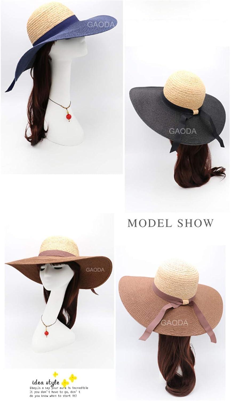 Viseras Sombreros Costura A La Moda del Sombrero De Paja Shade ...