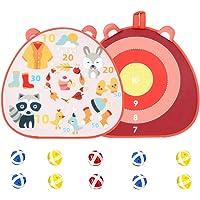 Stoffen dartbord, dubbelzijdig dartbord, kinderdartbord, met 10 kleverige ballen dartbord, voor kinderen volwassenen…