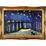 overstockArt Starry Night Over the Rhone by Van Gogh with Victorian Gold Frame, Gold Finish
