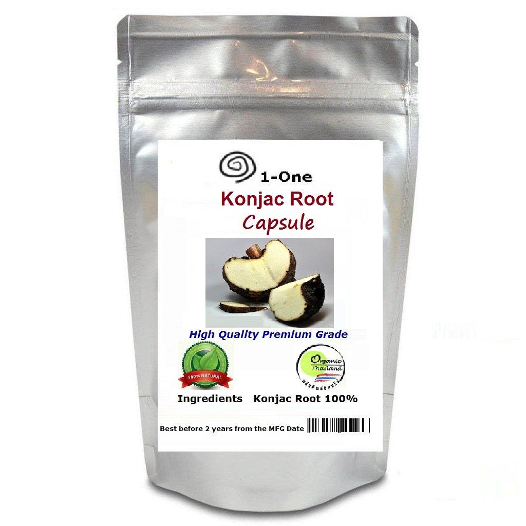 GLUCOMANNAN Konjac Root 180 Capsules @500 mg weight loss slim 100% natural