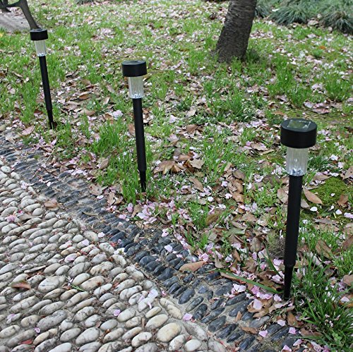 ME 12-Packs LED Solar Garden Path Lights, Low Voltage Stainless Steel Outdoor For Pathway Driveway Patio Lawn Walkway Yard by Mansion Electronics (Image #8)