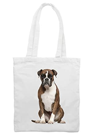 Boxer Dog Shoulder - Shopping Bag: Amazon.co.uk: Clothing