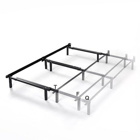 Amazoncom Zinus Michelle Compack Adjustable Steel Bed Frame For