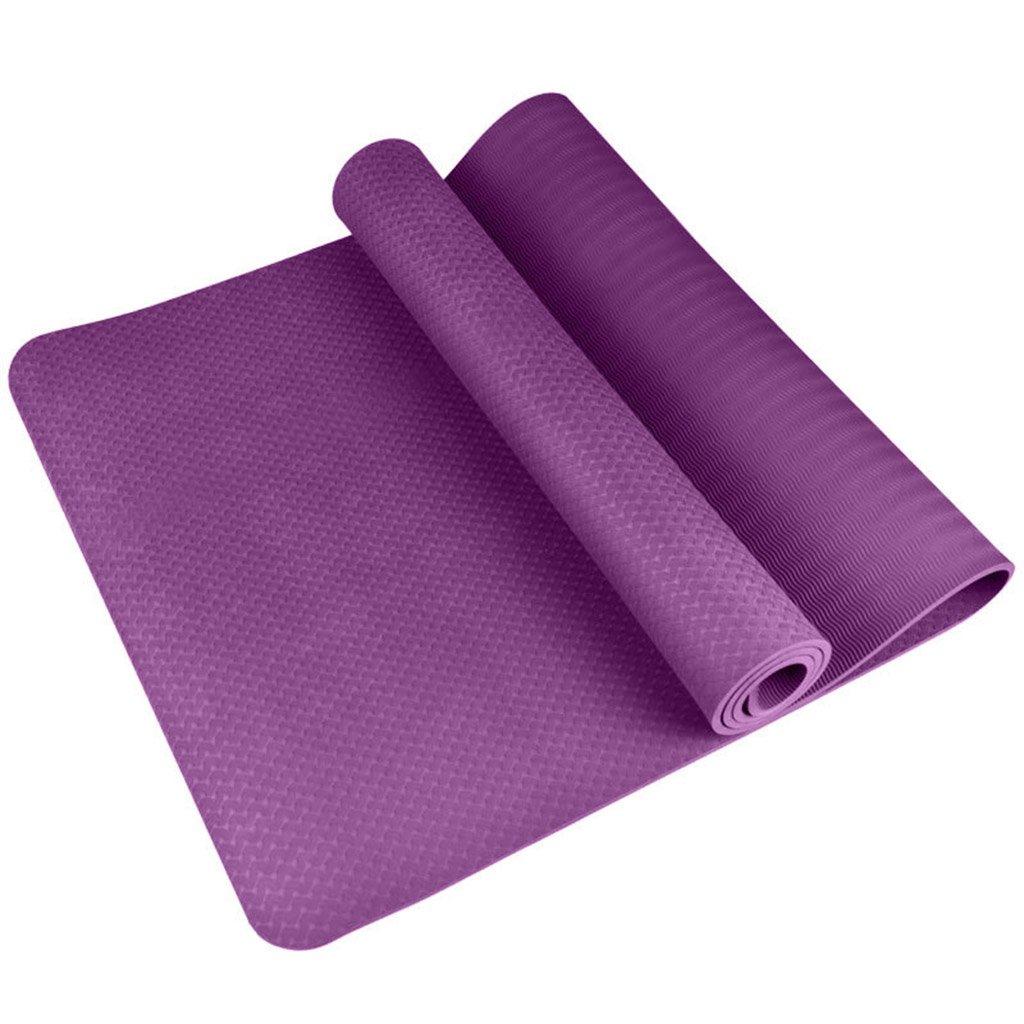 HCJYJD GUoroNG Tappetini per Lo Yoga, Tappetino per Principianti Tappetino per Il Fitness Antiscivolo Morbido e Confortevole Antiscivolo Tappetino YOG (colore    1, Dimensioni   Thickness8mm)