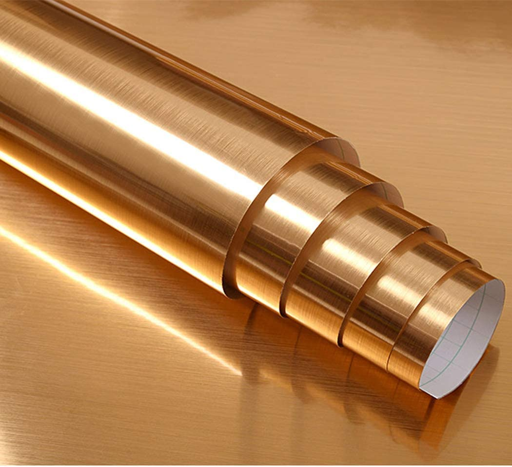 Papel adhesivo de aspecto de metal de acero inoxidable cepillado ...