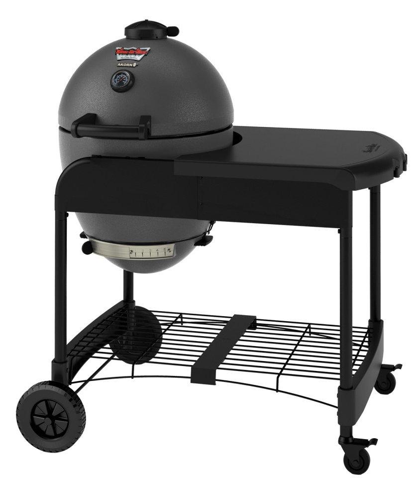 Char-Griller 6520 Akorn Kamado Kooker Charcoal Grill with Cart - Grey
