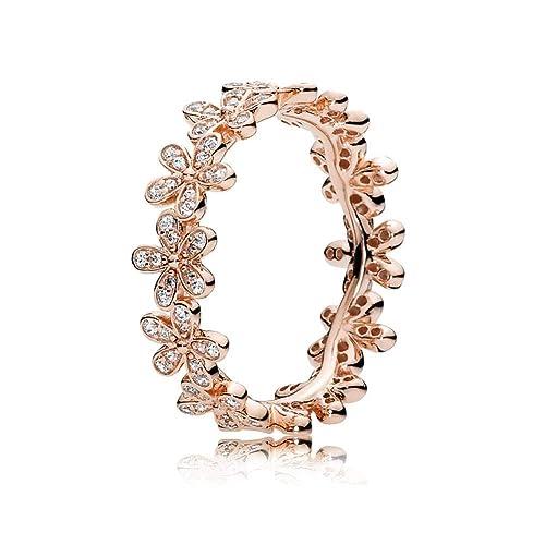 afb98ef72fbc Anillo de plata de ley 925, Oro rosa Chapado Princesa Cristal de zirconia  cúbica Anillos de compromiso Los mejores anillos de promesa para su ...