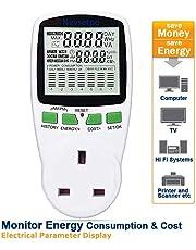 Nevsetpo Power Meter UK Plug Power Monitor Electricity Usage Consumption Cost Monitor Energy Monitor Plug Watts Meter[Upgraded]