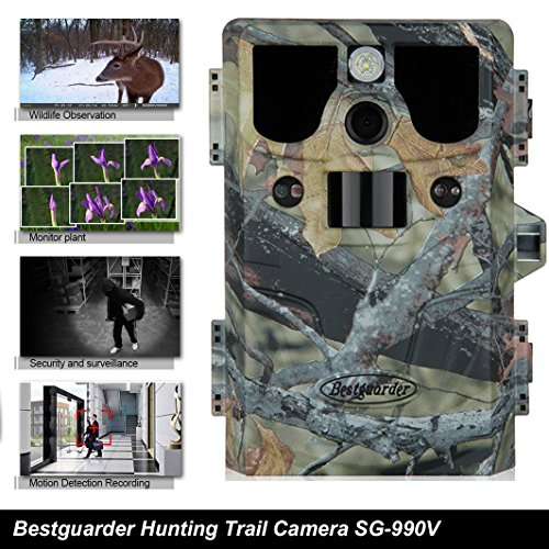 Bestguarder 1080P HD 12MP Waterproof IP66 CMOS Senor 5 Mode 9 shooting Infrared 42 IR LED Night Vision 2.0