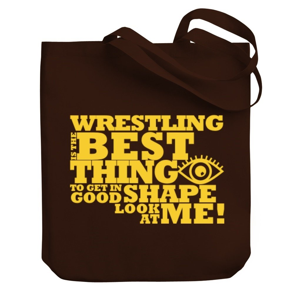 Teeburon Wrestling IS THE BEST THING LOOK AT ME ! Canvas Tote Bag by Teeburon