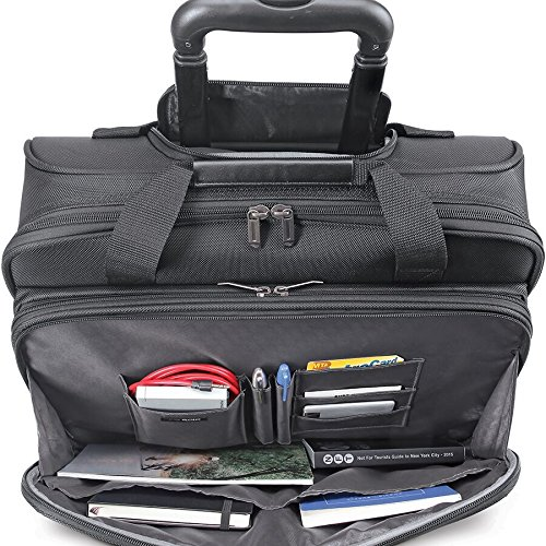 61WcYyrs9FL - Solo New York Bryant Rolling Laptop Bag. Rolling Briefcase for Women and Men. Fits up to 17.3 inch laptop - Black