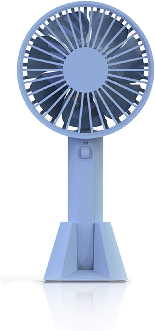 Quiet and Pure Natural Wind,3 Files Wind Speed JIUYAODIANZI VH Yu Portable Handheld Fan,Portable USB Fan Mini Foldable Desktop Table Cooling Hand Fan for Home Office Travel Color : Blue