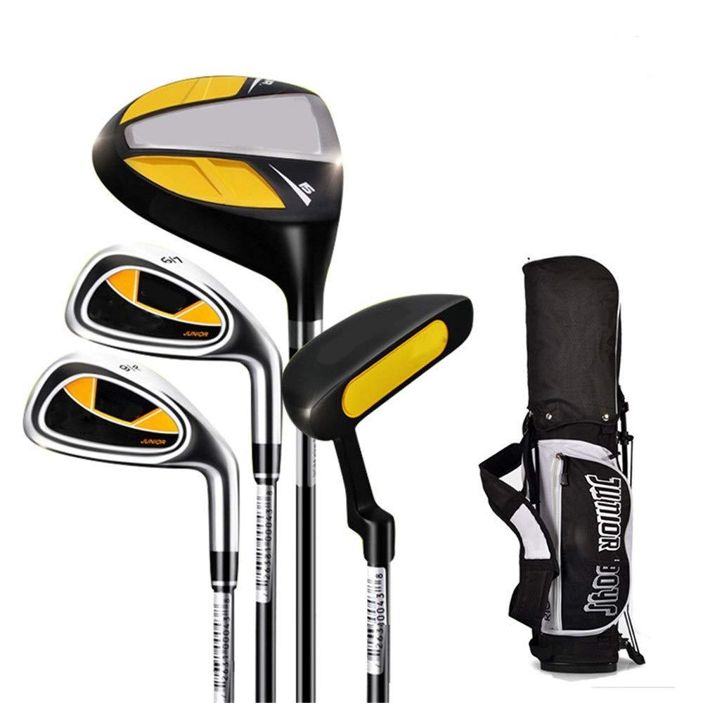 ゴルフクラブアイアン 子供のゴルフパター屋内と屋外のゴム製グリップゴルフ練習クラブ3-12歳の男の子と女の子とゴルフバッグ、1セット (色 : C1, サイズ : 5-8Age) B07T64R3GL C1 5-8Age