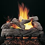 Rasmussen 18-inch Manzanita Gas Log Set With Vented Propane Flaming Ember Burner With Grate - Remote Ready Safety Pilot