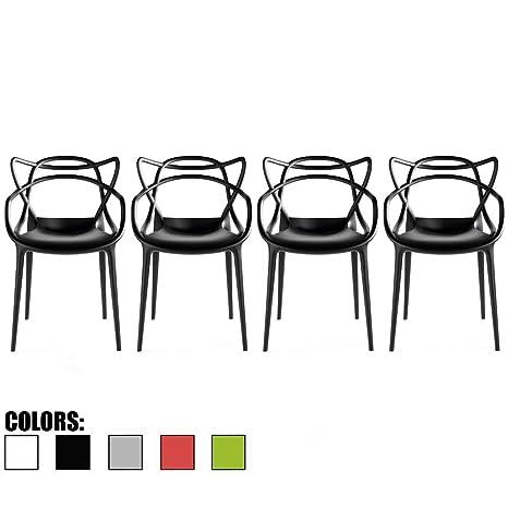 Amazon.com: 2 x Home – Juego de 4 sillas de comedor ...