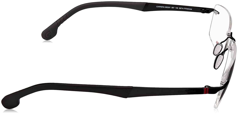 35167b539 Amazon.com: Carrera Metal Rectangular Eyeglasses 56 0807 Black: Clothing