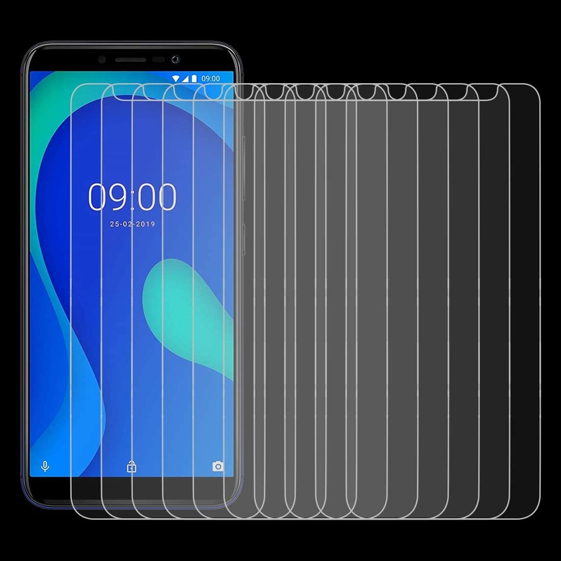 LGYD for 50 PCS 0.26mm 9H 2.5D Tempered Glass Film for Wiko Y80 No Retail Package