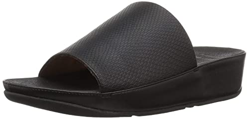 f9ad8ef62ada6 fitflop Womens Ginny Snake-Embossed Slide Sandal: Amazon.ca: Shoes ...