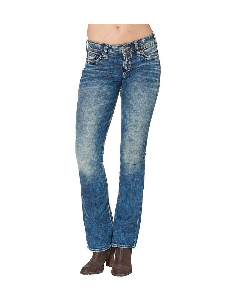 Silver Jeans Women's Plus Size Suki Mid Rise Bootcut Jean, Indigo, 24x33