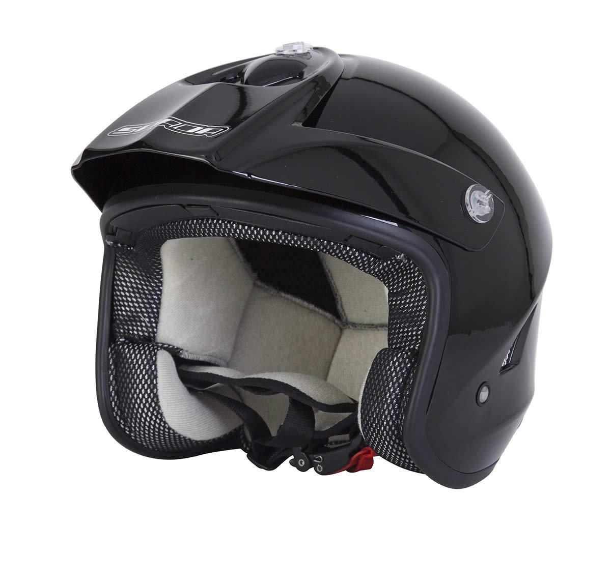 Spada Edge Trials Moto Enduro Off Road Casco a Viso Aperto Nero OPACO
