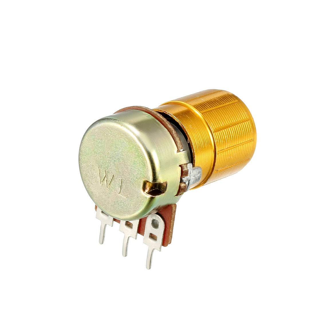 WH148 Variable resistors of 1 K ohms Conical Single-Turn Rotary Film Potentiometer Potentiometer W Knobs 10 Pieces