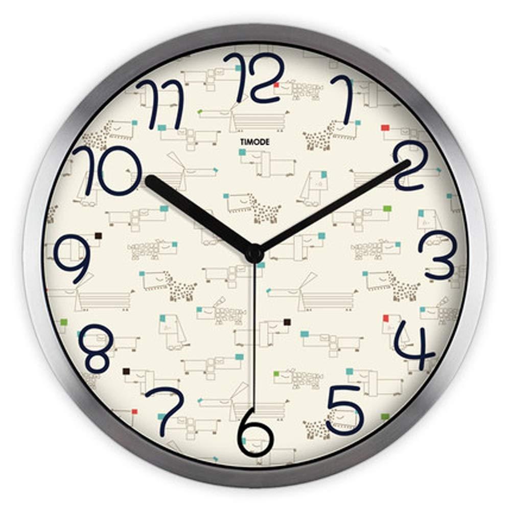 nuevo estilo C C C LONGLONGJINGXIAO Reloj de Parojo - Reloj de decoración de la Sala - Reloj de Cuarzo - silencioso - Reloj de Parojo rojoondo de Metal (Color   C)  comprar marca