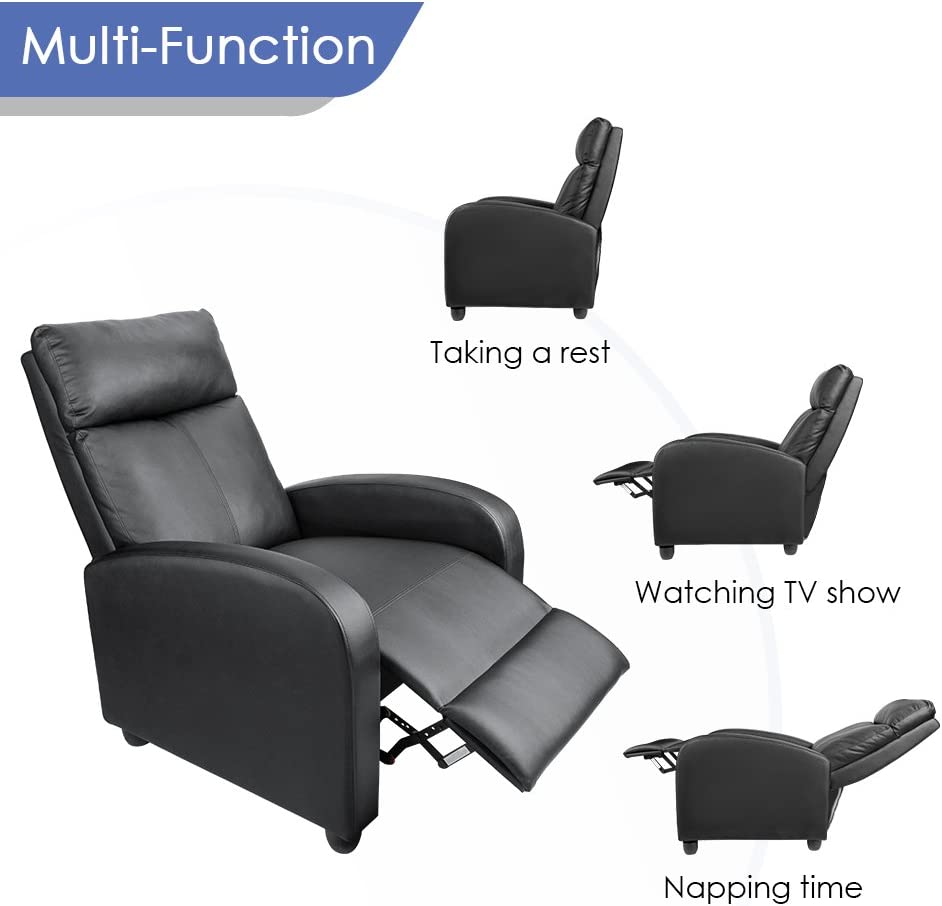 Homall Single Recliner Chair reclining modes