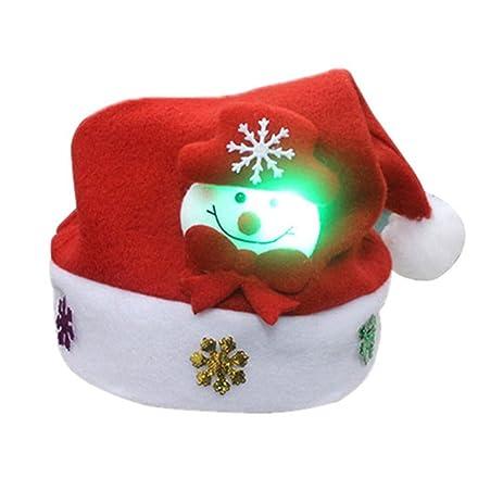 kids led christmas hatlight up christmas hat santa claus xmas gifts cap for