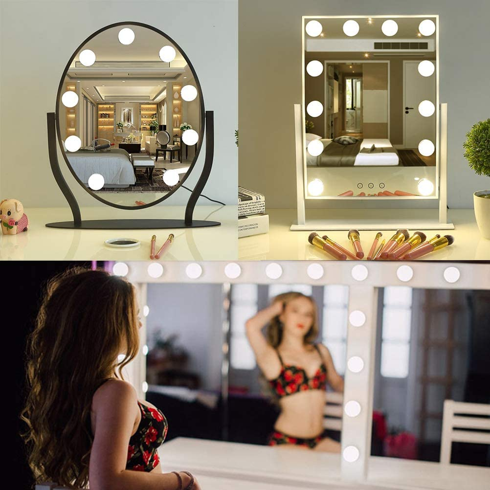 10 St/ück ATPWONZ LED Bulb Spiegel Beleuchtung BulbLine Makeup Mirror LED Spiegelleuchte Kit mit Bedienungsanleitung