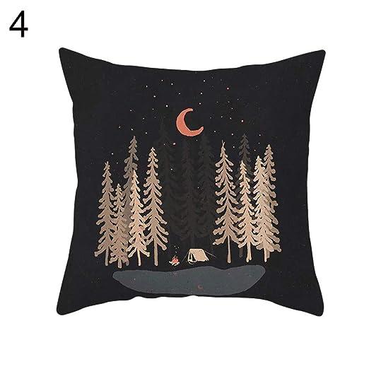 fiejns-zjy Sun Moon Forest Mountain Scenery Funda de ...