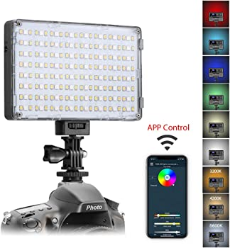 GVM RGB-10S LED On-Camera RGB LED Video Light with Wi-Fi Control