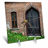 3dRose Roni Chastain Photography - Window and Door - 6x6 Desk Clock (dc_269609_1)