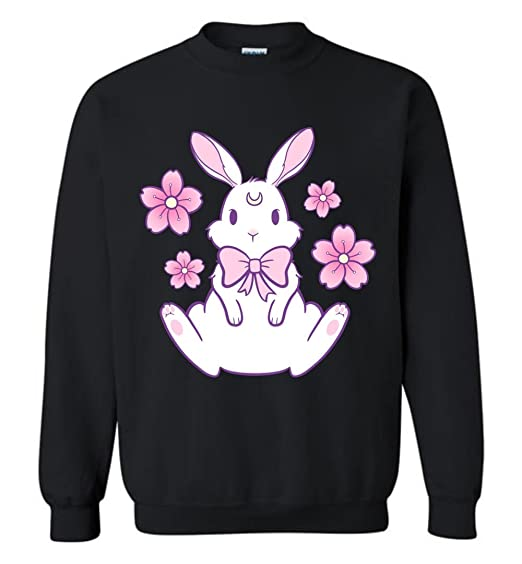1104fa649 Image Unavailable. Image not available for. Color: TSHIRTAMAZING Easter  Pink Bunny Crewneck Sweatshirt