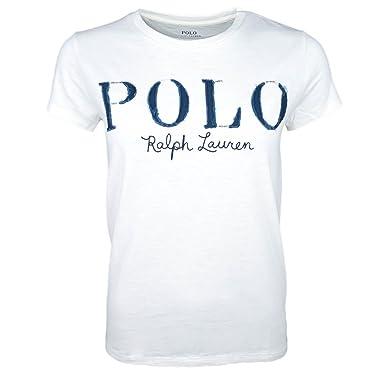 Ralph Lauren T-Shirt col Rond Polo Blanc pour Femme  Amazon.fr  Vêtements  et accessoires 37d1e9272c55