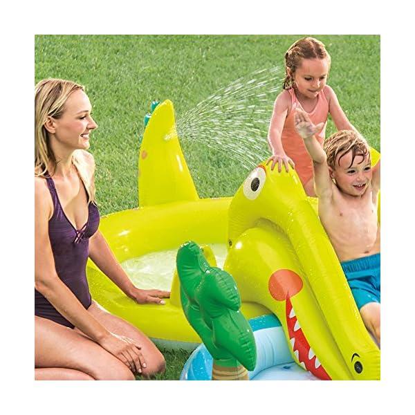Intex–Centro di gioco acquatico con scivolo–2Piscina, 180/132L, 57164) 3 spesavip