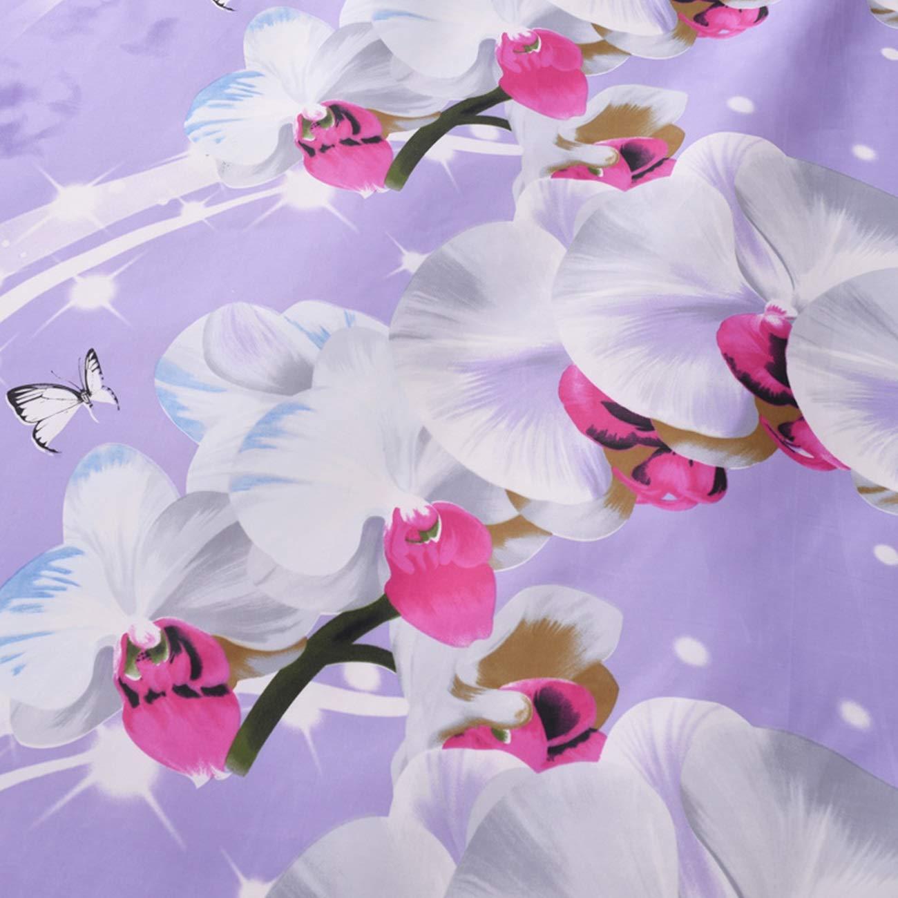 AMDXD Tende da Doccia per Il Bagno Poliestere Tenda da Bagno Viola Farfalla Orchidea Tenda della Doccia 100X200CM