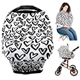 Baby car seat Cover, Nursing Covers Breastfeeding Cover carseat Canopy (Hearts) by Ermis