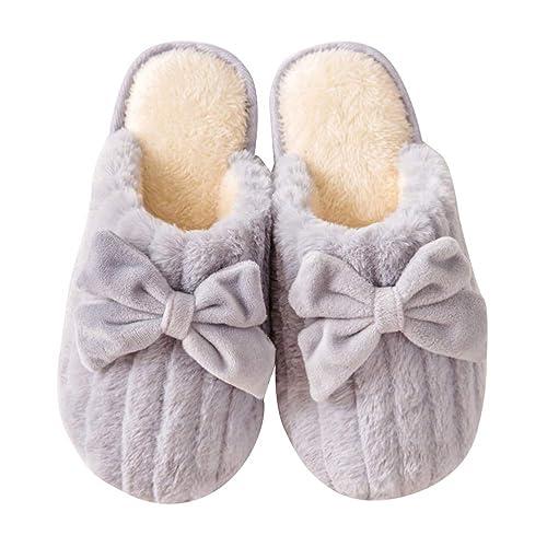 Donna Uomo Pantofole Inverno Morbido Peluche Bowknot Pantofole Comode Calde  Pantofole Coppie Scarpe da Casa  Amazon.it  Scarpe e borse 5133bcedcf4
