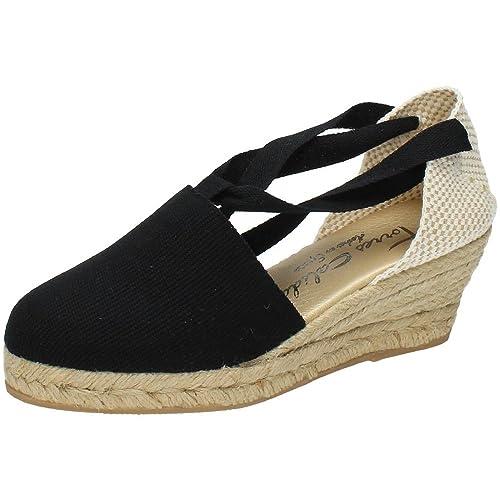 TORRES Valenciana VALENCIANAS Negras Mujer Alpargatas: Amazon.es: Zapatos y complementos