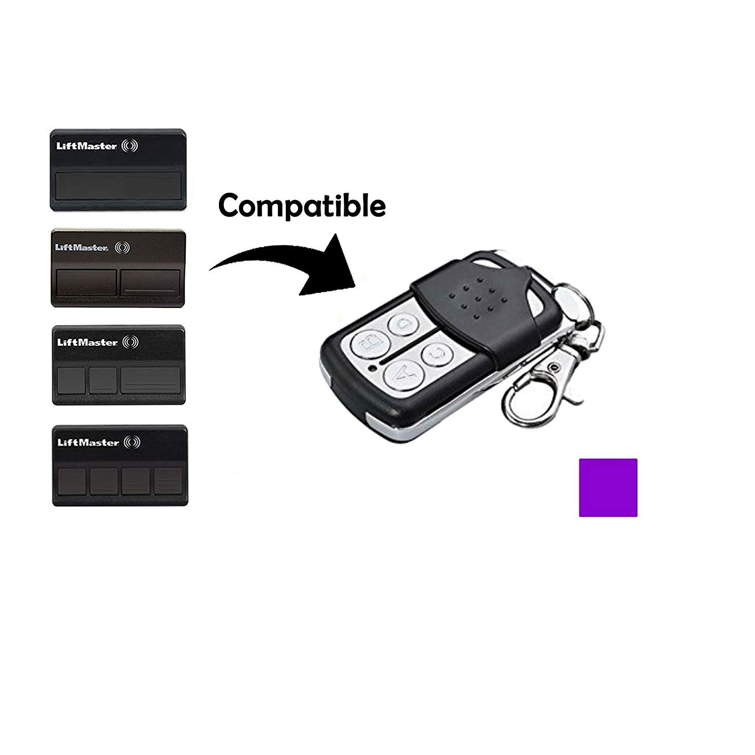 Noa Store Compatible Garage Door Remote Control with Liftmaster Chamberlain Craftsman 370LM 371LM 372LM 373LM
