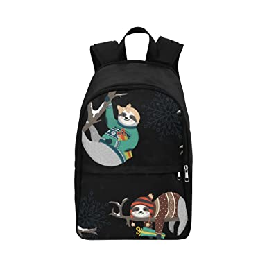 1cee67dd5402 Artsadd Backpack Cute Sloths with Gifts Fabric Backpack for Adult M1659