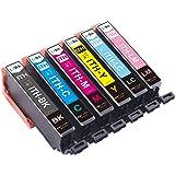 【LxTek】Epson用 エプソン ITH-6CL インクカートリッジ 6色セット イチョウ インク 『互換インク/大容量/説明書付/残量表示/個包装/一年保証』 対応機種:EP-811AB EP-811AW EP-709A EP-710A EP-711A EP-810AB EP-810AW