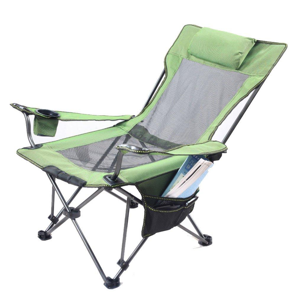 HM&DX Outdoor Klappstuhl Camping Gemütlich Transportabel Höhenverstellbar Campingstühle Liege mit Schlägertasche Für Camping Wandern Strand Angeln Garten