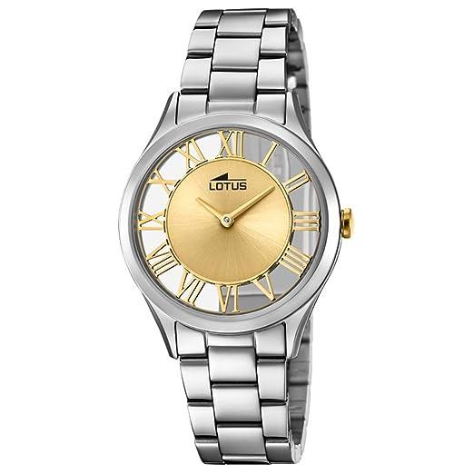 Lotus Reloj Analógico para Mujer de Cuarzo con Correa en Acero Inoxidable 18395/2: Amazon.es: Relojes