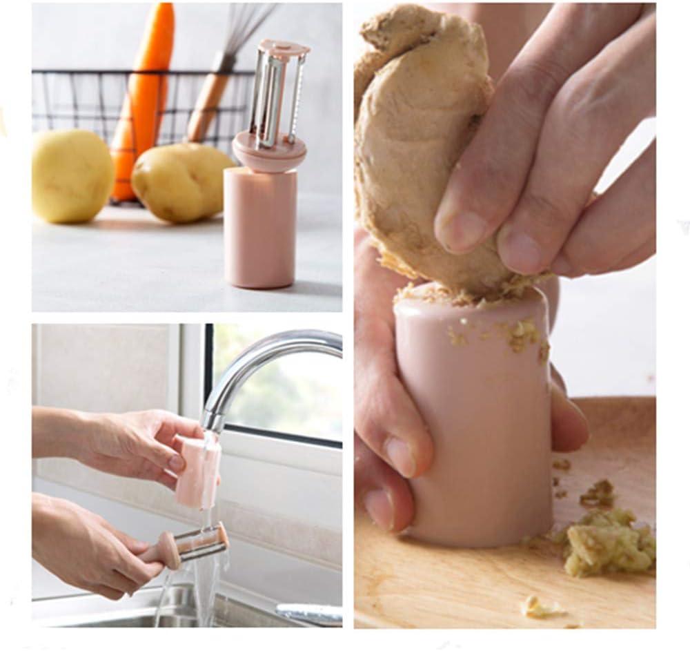 sibosen 3 in 1 Obstsch/äler Sparsch/äler Gem/üsesch/äler mit Deckel K/üche Multifunktions-Hobel Haushalt Sch/äler f/ür Kartoffeln Karotten /Äpfel und Gem/üse