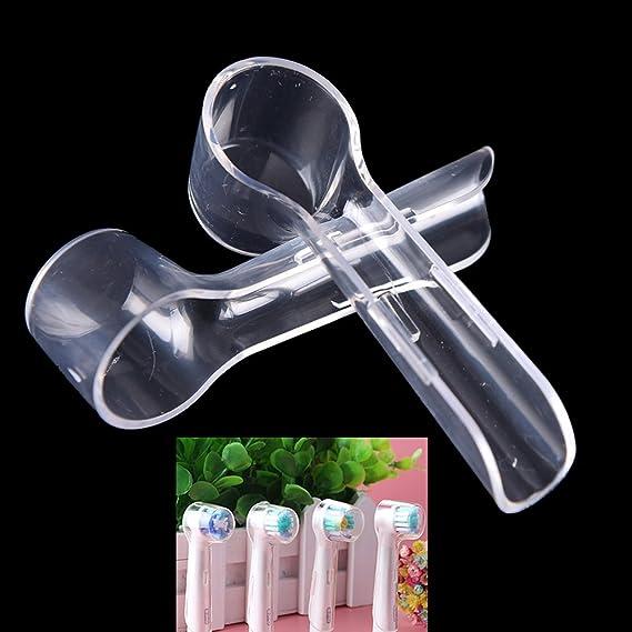 Funda protectora para cepillo de dientes higiénico, cubierta de plástico transparente para cabezales de cepillo de dientes eléctrico, conveniente para ...