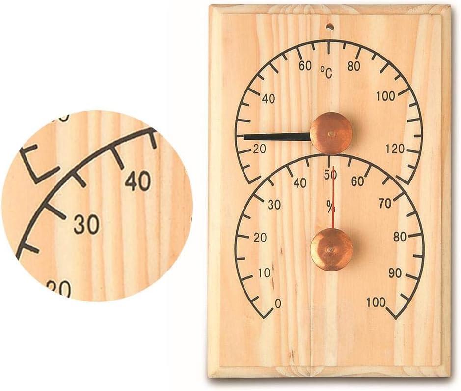 Luftfeuchtigkeit Temperatur Hitzebest/ändig(10/°C-120/°C) perfecti 2 In1 SaunaThermo-Hygrometer Holz Hygrometer Wandmontage Thermometer Sauna Sanduhr Messinstrumente
