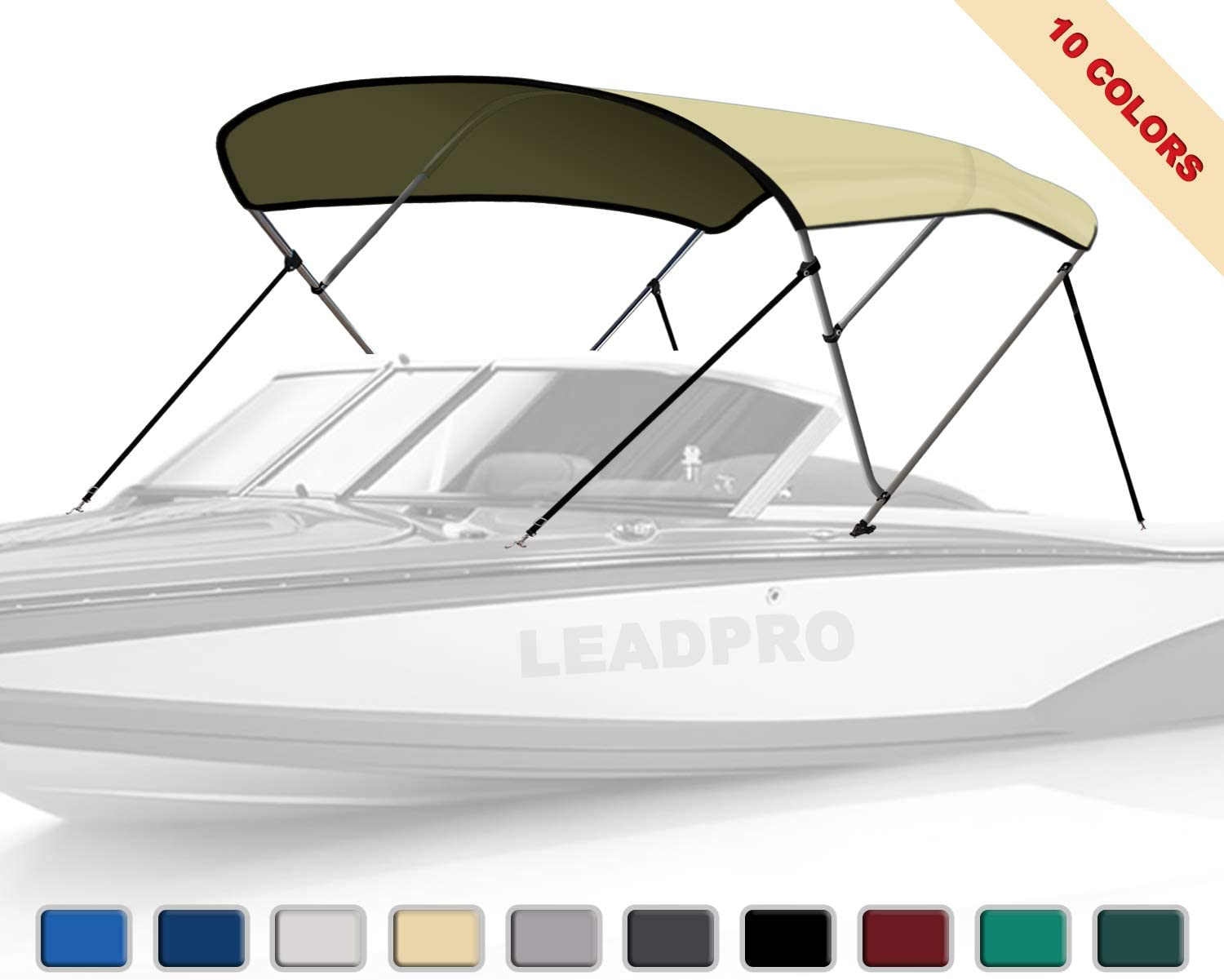 "W// BOOT /& REAR POLES 96/""W BIMINI TOP BOAT COVER TEAL 3 BOW 72/""L 54/""H 91/"""