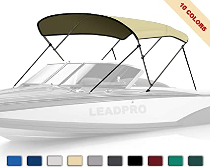 "BIMINI TOP BOAT COVER CANVAS FABRIC TAN W//BOOT FITS 3 BOW 72/""L 54/""H 79/""-84/""W"